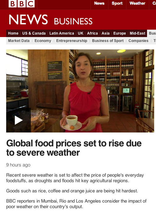 BBC Food Prices Report